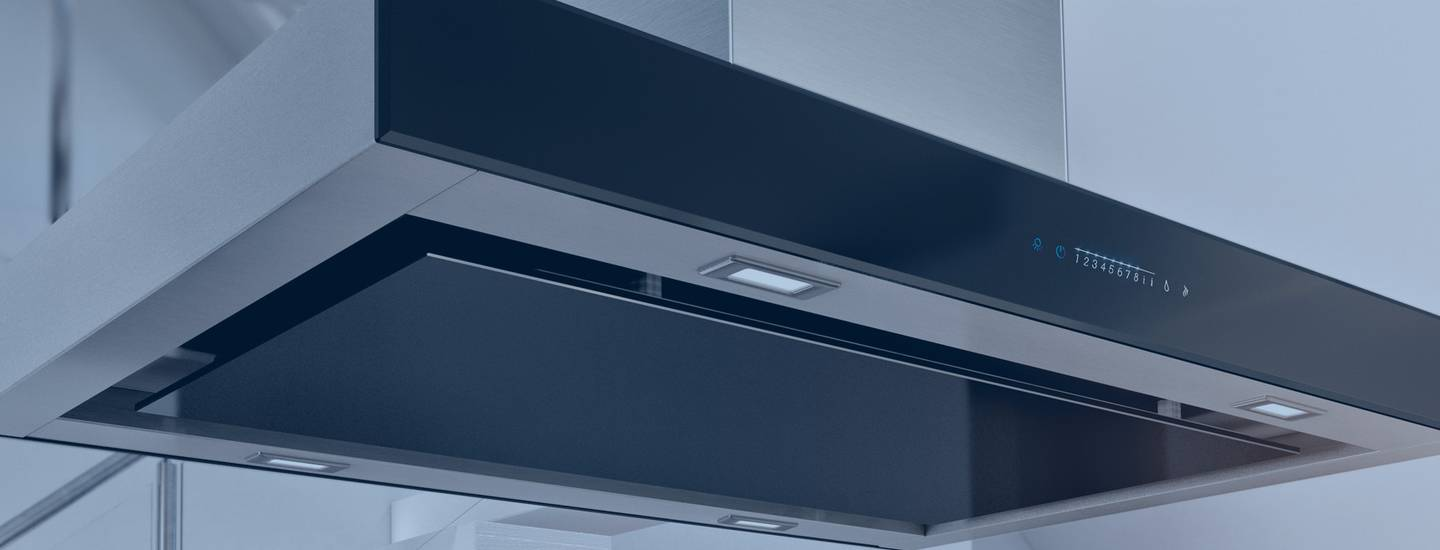 Island extractor hoods for kitchens
